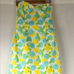 Lilly Pulitzer lemon blueberry dress vintage